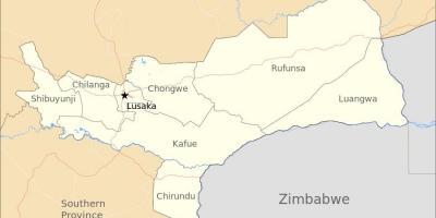 kart zambia Zambia kart   Kart Zambia (Øst Afrika   Afrika) kart zambia